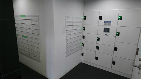 メールボックス。宅配ロッカー